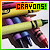 Fan of crayons